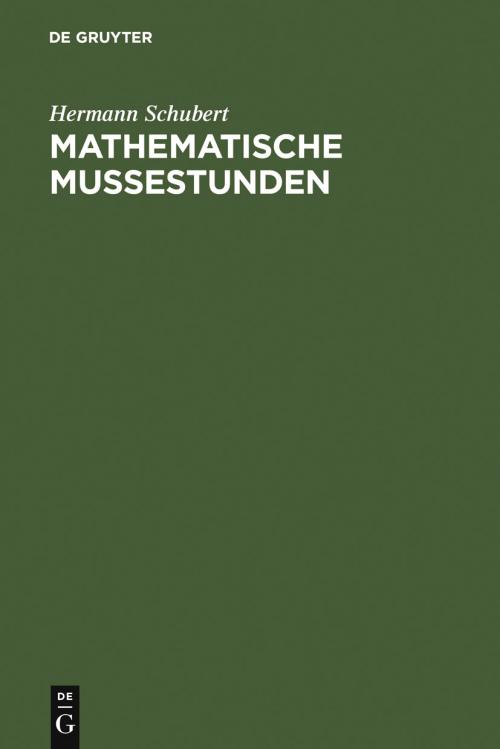 Mathematische Mußestunden cover