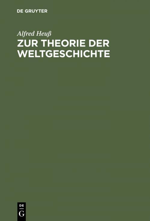 Zur Theorie der Weltgeschichte cover