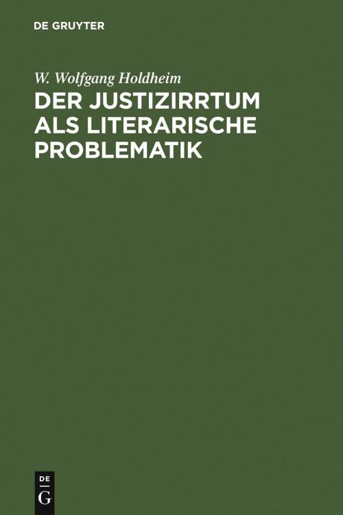 Der Justizirrtum als literarische Problematik cover