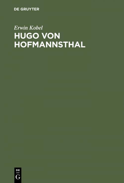 Hugo von Hofmannsthal cover