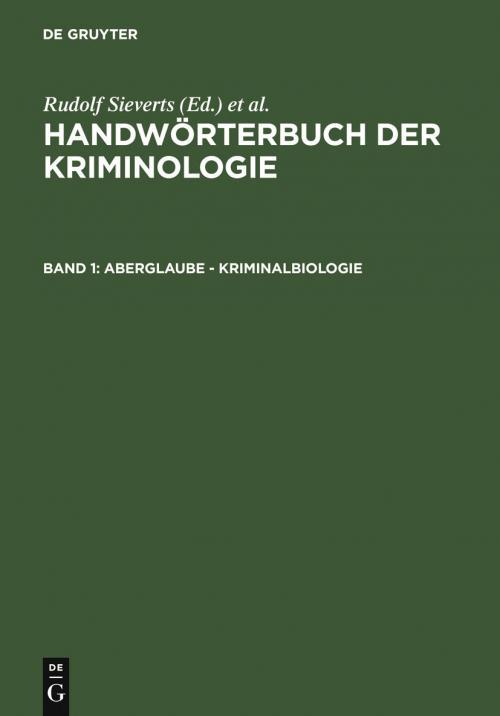 Aberglaube - Kriminalbiologie cover