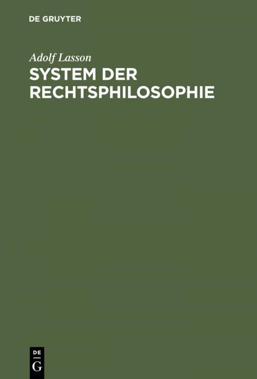System der Rechtsphilosophie cover