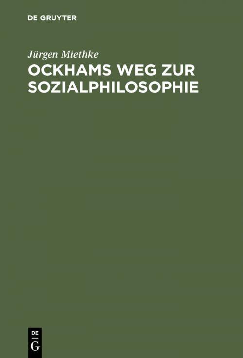 Ockhams Weg zur Sozialphilosophie cover