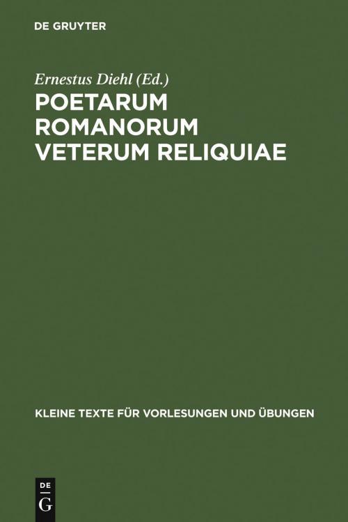 Poetarum Romanorum Veterum Reliquiae cover