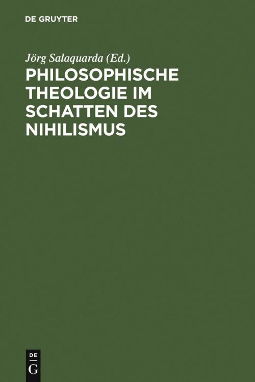Philosophische Theologie im Schatten des Nihilismus cover