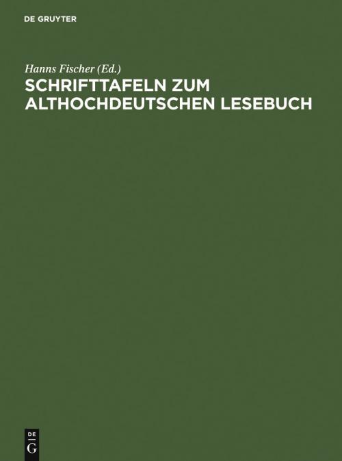 Schrifttafeln zum althochdeutschen Lesebuch cover