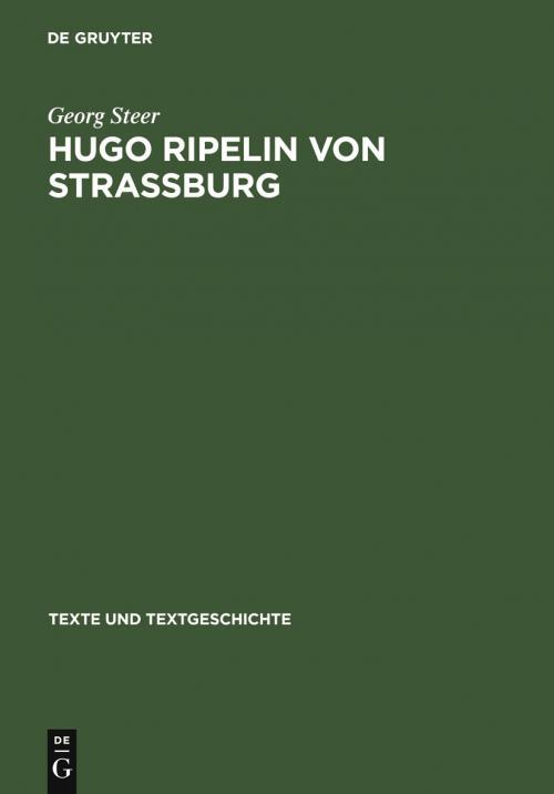 Hugo Ripelin von Straßburg cover