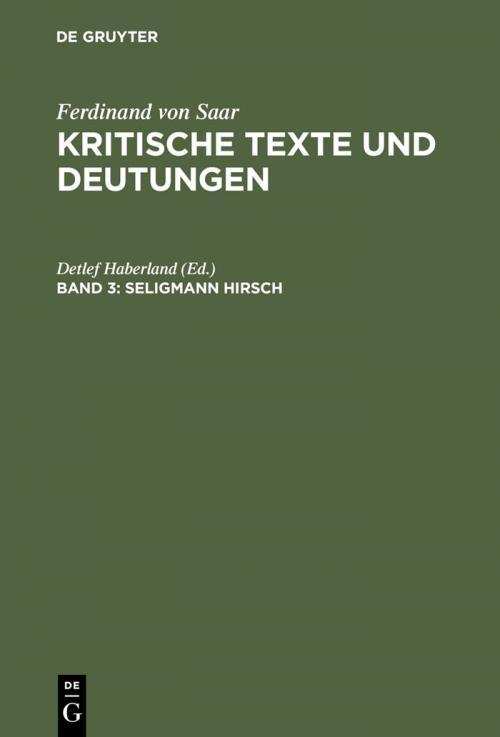 Seligmann Hirsch cover