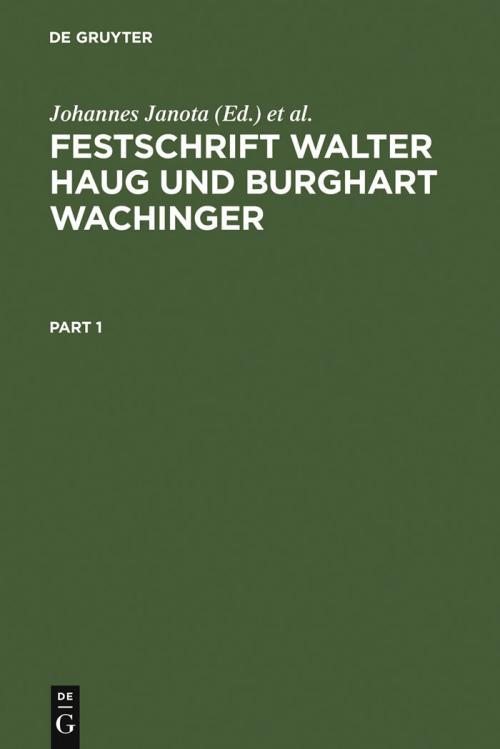 Festschrift Walter Haug und Burghart Wachinger cover