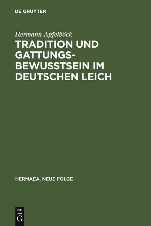 Tradition und Gattungsbewußtsein im deutschen Leich cover