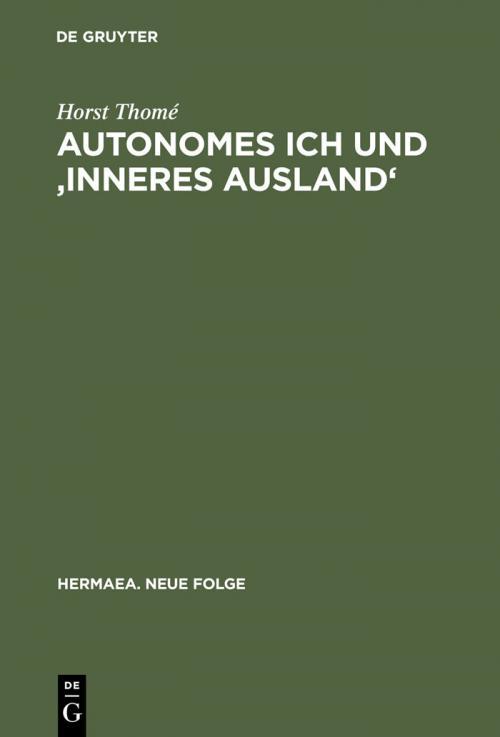 Autonomes Ich und 'Inneres Ausland' cover