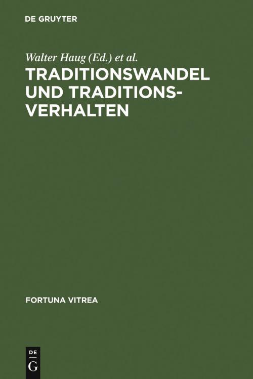 Traditionswandel und Traditionsverhalten cover