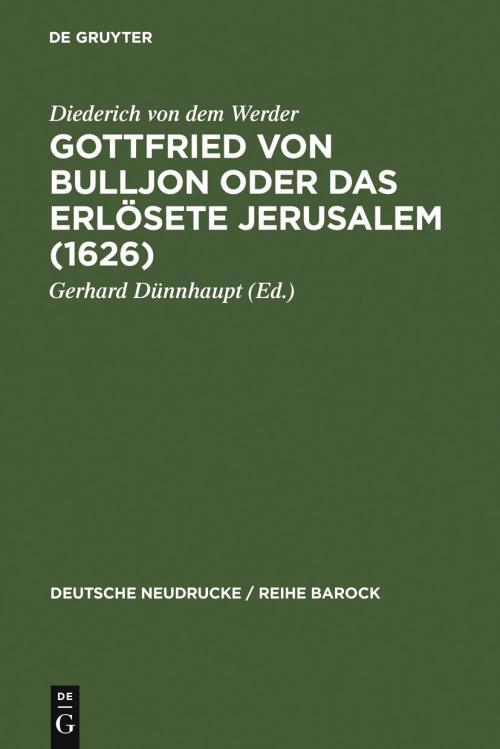 Gottfried von Bulljon oder Das erlösete Jerusalem (1626) cover