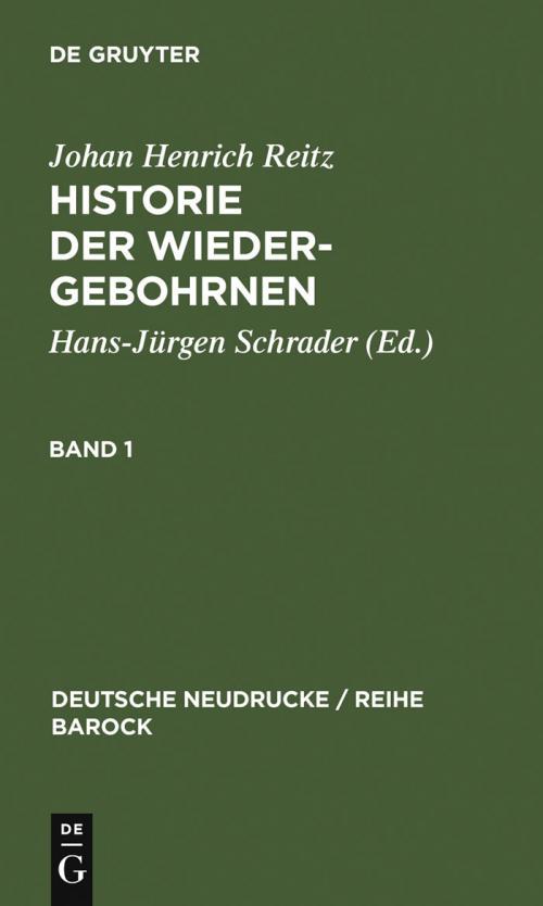 Historie Der Wiedergebohrnen cover