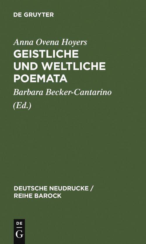 Geistliche und Weltliche Poemata cover