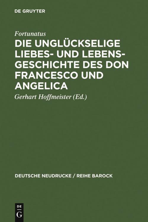 Die unglückselige Liebes- und Lebens-Geschichte des Don Francesco und Angelica cover