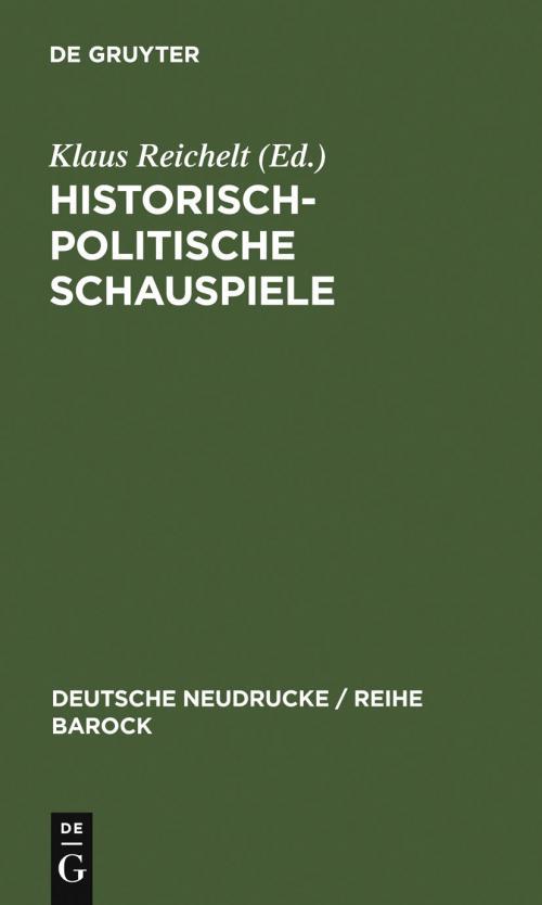 Historisch-politische Schauspiele cover
