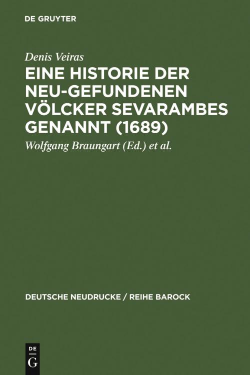 Eine Historie der Neu-gefundenen Völcker Sevarambes genannt (1689) cover
