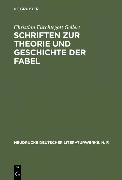 Schriften zur Theorie und Geschichte der Fabel cover