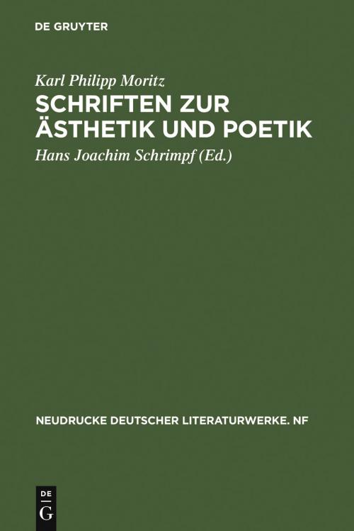 Schriften zur Ästhetik und Poetik cover