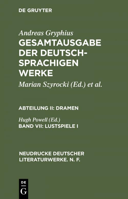 Lustspiele I cover