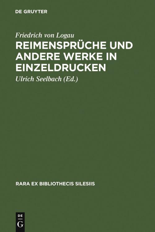 Reimensprüche und andere Werke in Einzeldrucken cover