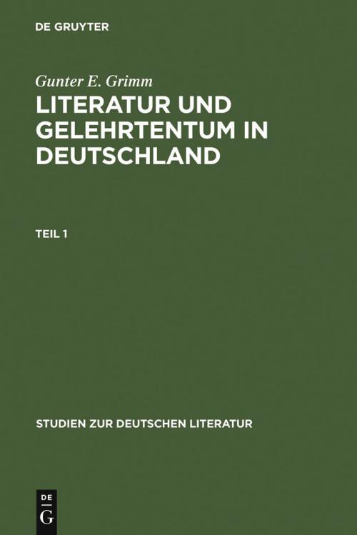 Literatur und Gelehrtentum in Deutschland cover