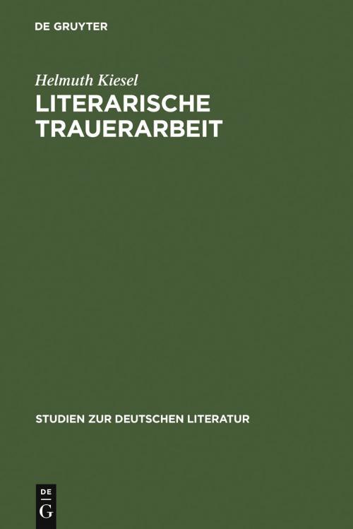 Literarische Trauerarbeit cover