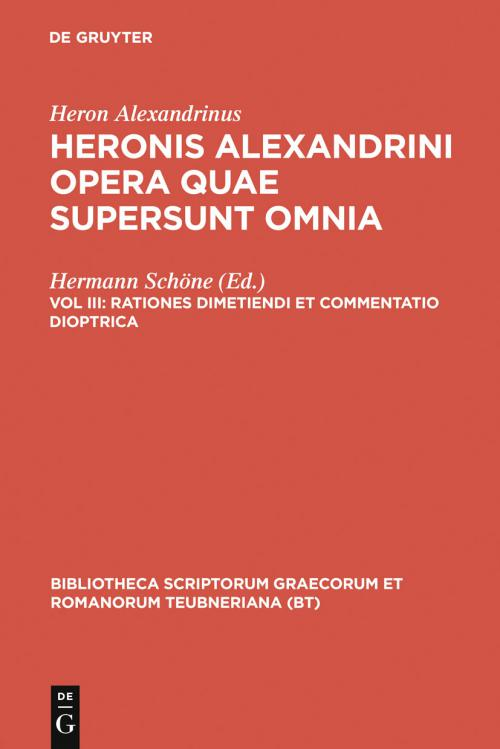 Rationes dimetiendi et commentatio dioptrica cover