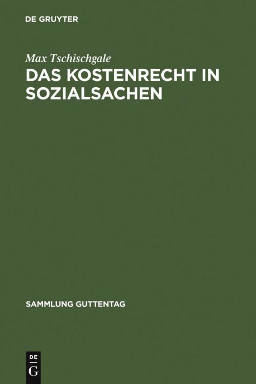 Das Kostenrecht in Sozialsachen cover