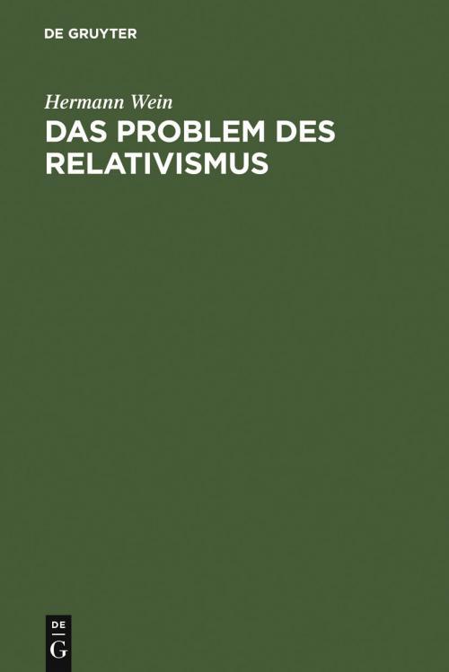 Das Problem des Relativismus cover