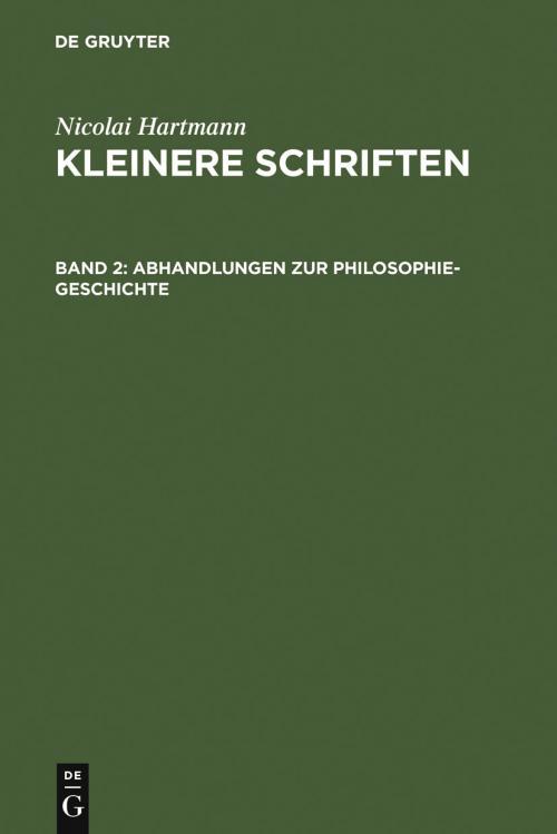 Abhandlungen zur Philosophie-Geschichte cover