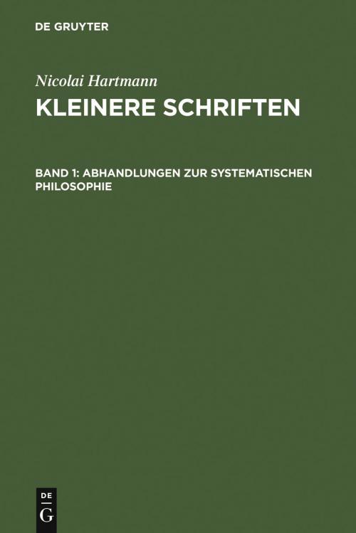 Abhandlungen zur systematischen Philosophie cover