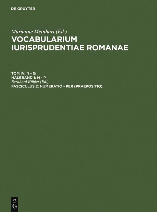 numeratio - per (Praepositio) cover