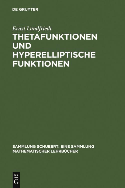 Thetafunktionen und hyperelliptische Funktionen cover