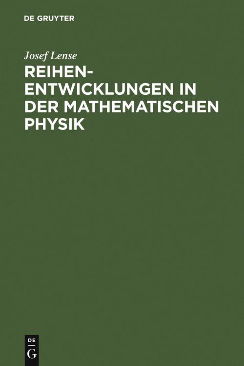 Reihenentwicklungen in der mathematischen Physik cover