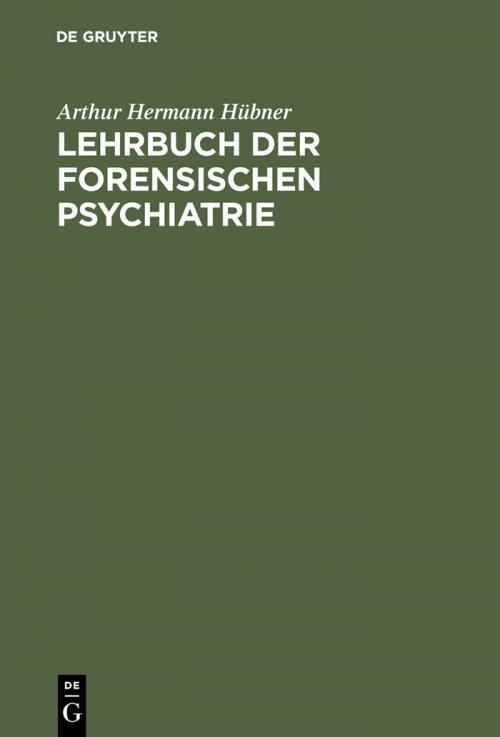 Lehrbuch der forensischen Psychiatrie cover