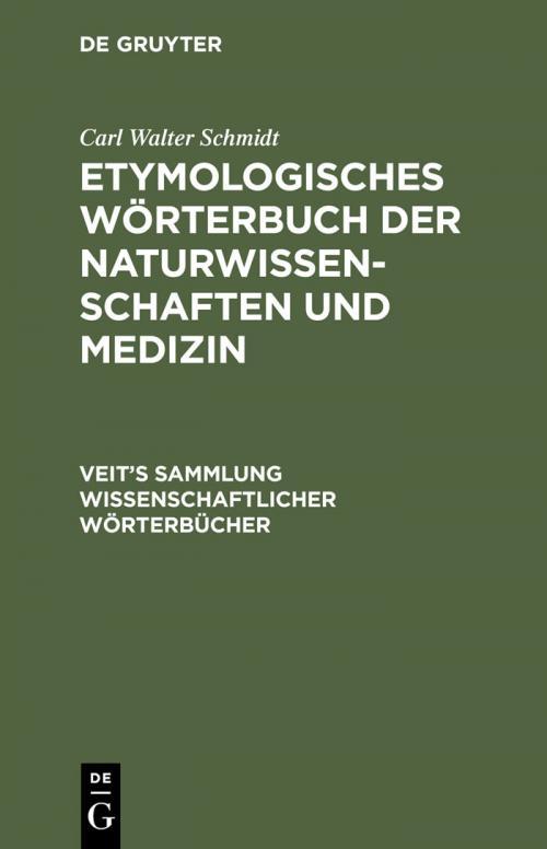Etymologisches Wörterbuch der Naturwissenschaften und Medizin cover