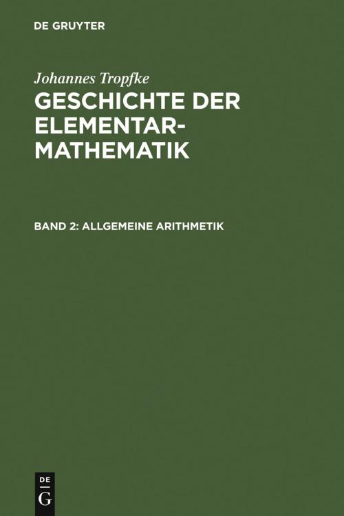 Allgemeine Arithmetik cover