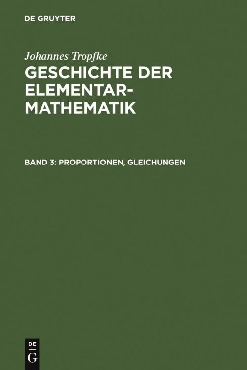 Proportionen, Gleichungen cover