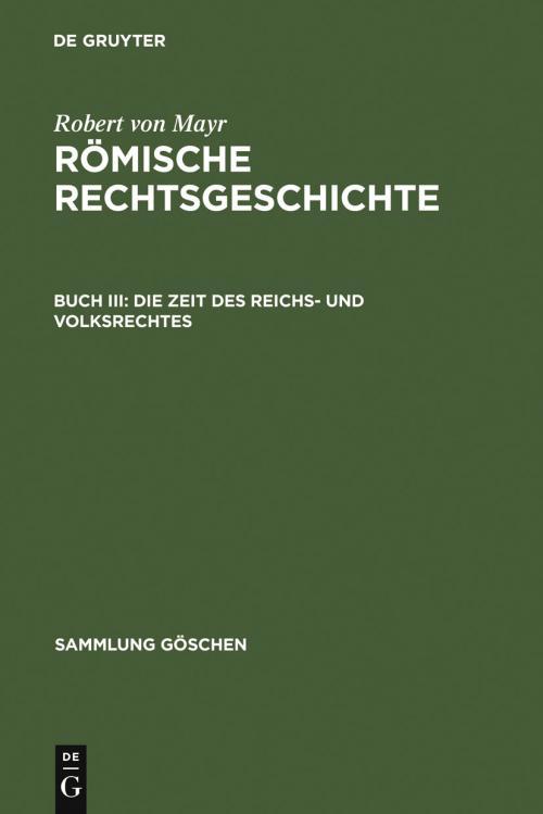Die Zeit des Reichs- und Volksrechtes cover
