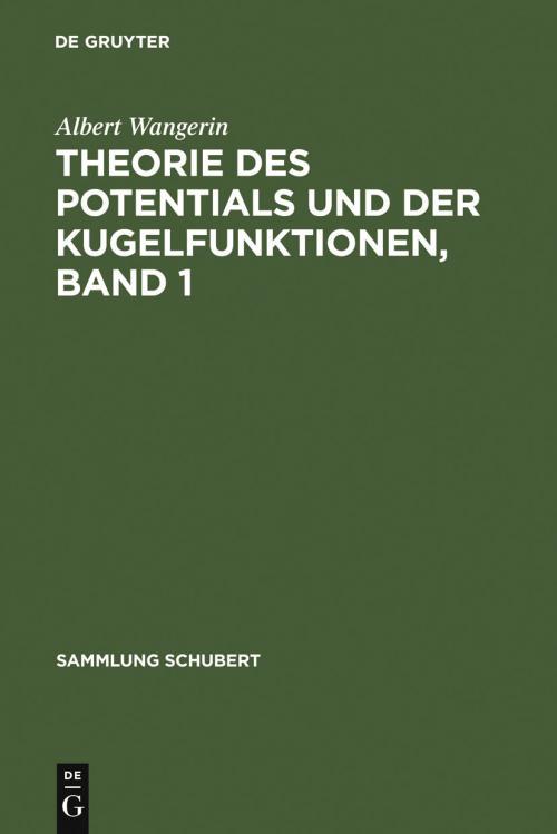 Theorie des Potentials und der Kugelfunktionen, Band 1 cover
