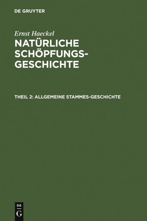 Allgemeine Stammes-Geschichte cover