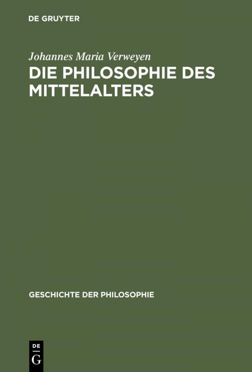 Die Philosophie des Mittelalters cover