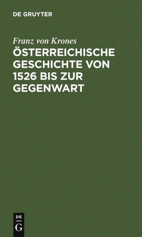 Österreichische Geschichte von 1526 bis zur Gegenwart cover