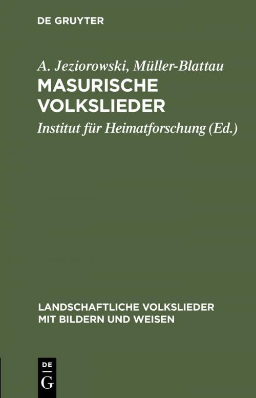 Masurische Volkslieder cover