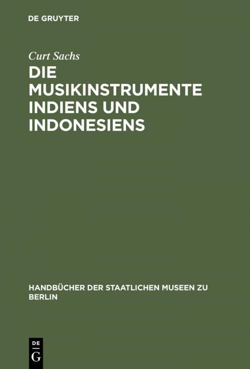 Die Musikinstrumente Indiens und Indonesiens cover