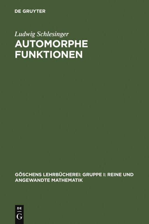 Automorphe Funktionen cover