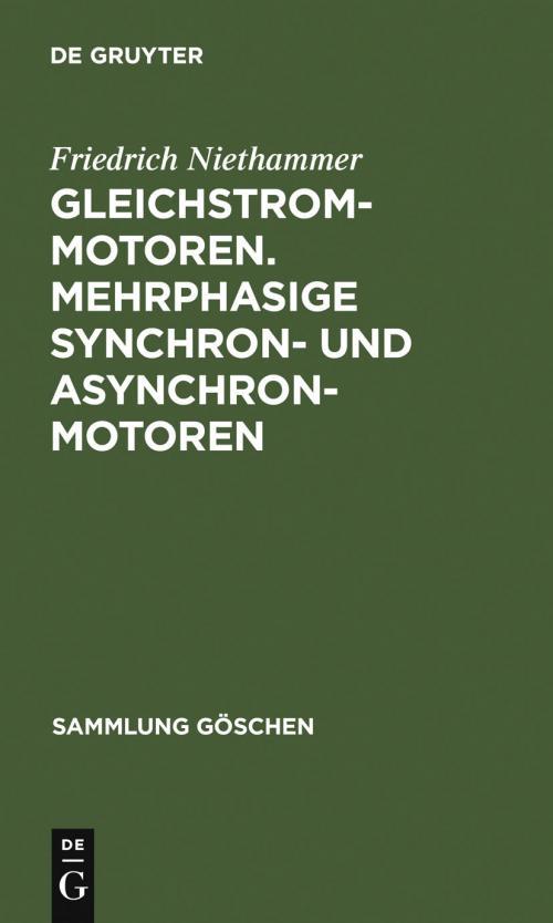 Gleichstrommotoren. Mehrphasige Synchron- und Asynchronmotoren cover