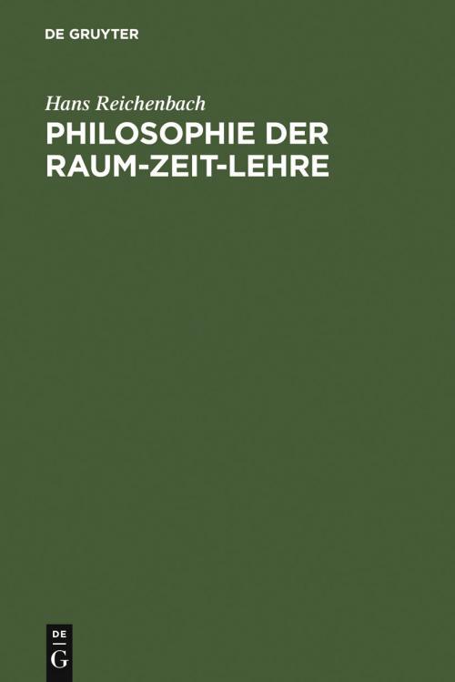 Philosophie der Raum-Zeit-Lehre cover